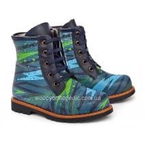Ботинки зимние (на шнурках и молнии) 144-1