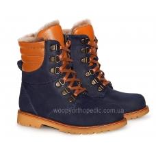 Ботинки зимние (на шнурках и молнии) 2295